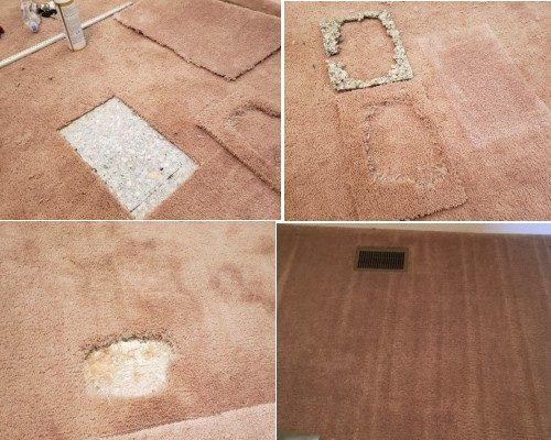 patching carpet